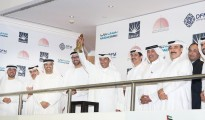 Mohamed Alabbar, Chairman of Emaar Properties and the bell ceremony at Dubai Financial Market
