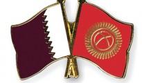 Kyrgyz and qatar flags