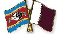 Qatar and Swaziland flag
