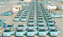 ''Karwa'' taxis assembled at  ''Mowasalat'' compound
