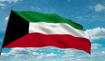 stock-footage-kuwait-flag-waving-against-time-lapse-clouds-background