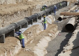 Dubai Electricity and Water Authority's Hatta pipeline project.