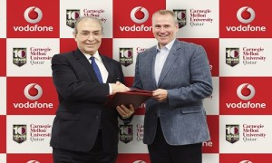 Kyle Whitehill Chief Executive Officer of Vodafone Qatar and Carnegie Mellon University in Qatar Dean and CEO Dr. Ilker Baybars
