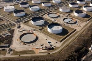 crude oil tanks