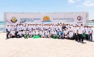 the annual beach clean-up day at Al Ghariya