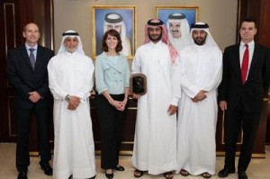 The Manager of RasGas Operations Projects Department Fahad Al Khater received the ExxonMobil Safety Award