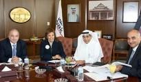 Shaikha Al Bahar, NBK Deputy Group Chief Executive Officer and Saad Al-Khorayef, Al-Khorayef Group Chairman