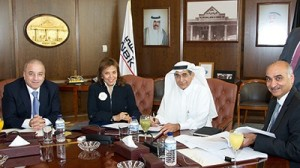 haikha Al Bahar, NBK Deputy Group Chief Executive Officer and Saad Al-Khorayef, Al-Khorayef Group Chairman