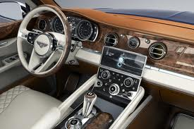 The interior of the Bentley SUV