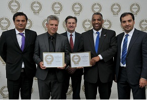 Vice President-Europe Khaled Al-Mushaileh,  receiving the 2014 ROSPA Gold Award