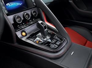 Interior of the  Jaguar F-TYPE