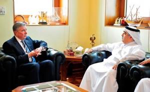 Ahmed bin Ali Al Mohannadi with an U.S, Customs delegate