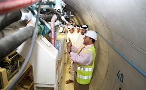 Sheikh Abdul Rahman bin Khalifa Al -Thani, Minister of Municipality and Urban Planning  at the  Mesaimeer tunnel