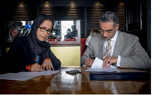 Dr. Hessa Al-Jaber, Minister of Information and Communications Technology  and Fadi Chehade , President of ICANN