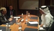 Ali Shareef Al Emadi, Minister of Finance  with Bill Gates