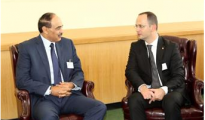 Sheikh Sabah Khaled Al-Hamad Al-Sabah, First Deputy Prime Minister and Foreign Minister  meets with Ditmir Bushati, Albanian Foreign Minister