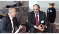 Sheikh Sabah Khaled Al-Hamad Al-Sabah, Kuwait's First Deputy Prime Minister and Foreign Minister meets Turkish FM