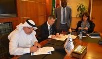 Abdulaziz bin Hamad Al-Ageel, GOIC Secretary General and Colin Chapman, EPC President