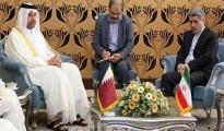 Sheikh Ahmed bin Jassim bin Mohammed Al -Thani , Qatar's Minister of Economy and Trade  and  Eshaq Jahangiri Kouhshahi, First Vice President of the Islamic Republic of Iran