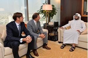 H.H. Sheikh Maktoum bin Mohammed bin Rashid Al Maktoum, Deputy Ruler of Dubai and Richard Lepeu, CEO of Richemont