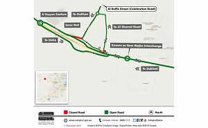 Ashghal to Re-align Celebration Road in Dukhan