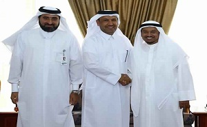 Dr. Abdullah Saleh Mubarak Al-Khulaifi, the Minister of Labour and Social Affairs and members of Qatar Foundation