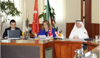 Hamad Al-Omar, Deputy Director-General of the Chamber of Commerce and Industry (CCI)  and the head of the Turkish trade delegation during the seminar