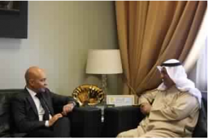 Abdulmohsen Al-Madaj, Deputy Prime Minister and Minister of Commerce and Industry and Jaime Garcia-Legaz, Spain's  Secretary of State for Trade