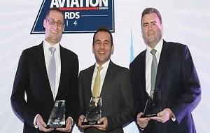 Jeff Wilkinson, Etihad Airways Senior Vice President Technical; Joe Chamoun, Etihad Airways General Manager Sales (Abu Dhabi and Al Ain); and David Kerr, Etihad Airways Vice President Cargo.