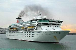 Cruise ship 'MS Balmoral' makes debut call at Zayed Port