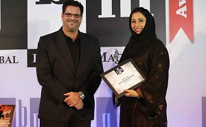 Anoud Al Rajab, Barwa Bank 's Al Sadd Branch Manager received the awards
