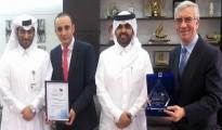 Abdulaziz bin Nasser Al Khalifa, CEO of QDB received the award