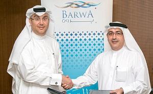 Ahmad Abdulla Al Abdulla , Barwa Real Estate Acting Group CEO and Ibrahim Al Jaidah, Arab Engineering Bureau CEO and Chief Architect