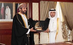 Dr. Issa bin Saad Al Jafali Al Nuaimi, Minister of Administrative Development  and Sheikh Khalid bin Omar bin Said al-Marhoon, Minister of Civil Service