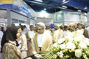 HE Mohammed bin Hamad Al Rumhy, Minister of Oil and Gas with dignitaries at the COMEX inauguration.