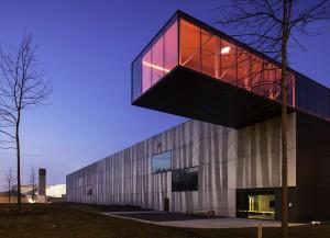 Enjoy Concrete Factory Building, Belgium Location: Bedrijvenlaan 7, 8630 Veurne, Belgium  Architecture: Architektuurburo Govaert & Vanhoutte  Design/ Graphics:  Builder: Enjoy Concrete  Prefabrication: Enjoy Concrete  Construction year: 2012  Product: GCPro™  Construction Type: Industrial  Collection: GCPro™  Color: Dark  Concrete Recipe: