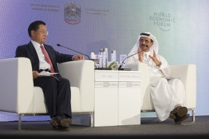 Image 01 - (L-R) -  HE Li Yong, Director General, United Nations Industrial Development Organization (UNIDO) and HE Sultan bin Saeed Al Mansoori, UAE Minister of Economy at the GMIS Launch in Abu Dhabi