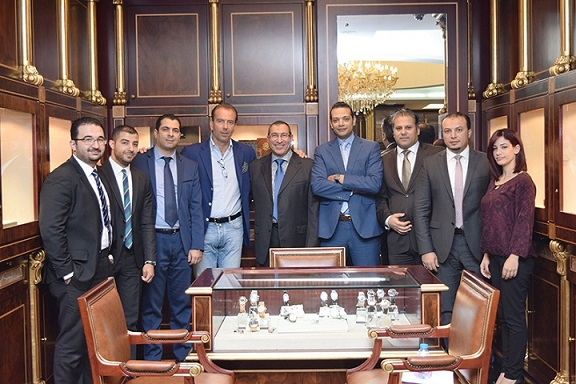Mario Peserico, General Manager of Eberhard & Co.  with Al Fardan Jewellery  team