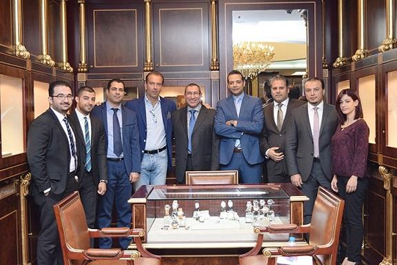 Mario Peserico, General Manager of Eberhard & Co.  with Al Fardan Jewellery  team