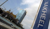 A banner of Dubai's property giant Nakhe