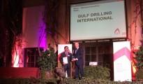 Mubarak Awaida Al Hajri , Chief Executive Officer of the Gulf Drilling International received the award