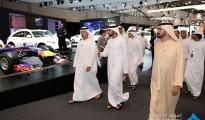 Mohammed bin Rashid while visiting Dubai International Motor Show 2015