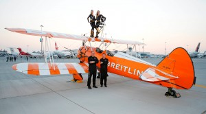Image 1 - The Breitling Wingwalkers team at the Dubai Airshow 2015