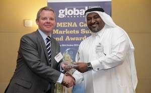 Sadiq Hamour, QFC, Director of Business Development  while receiving the award