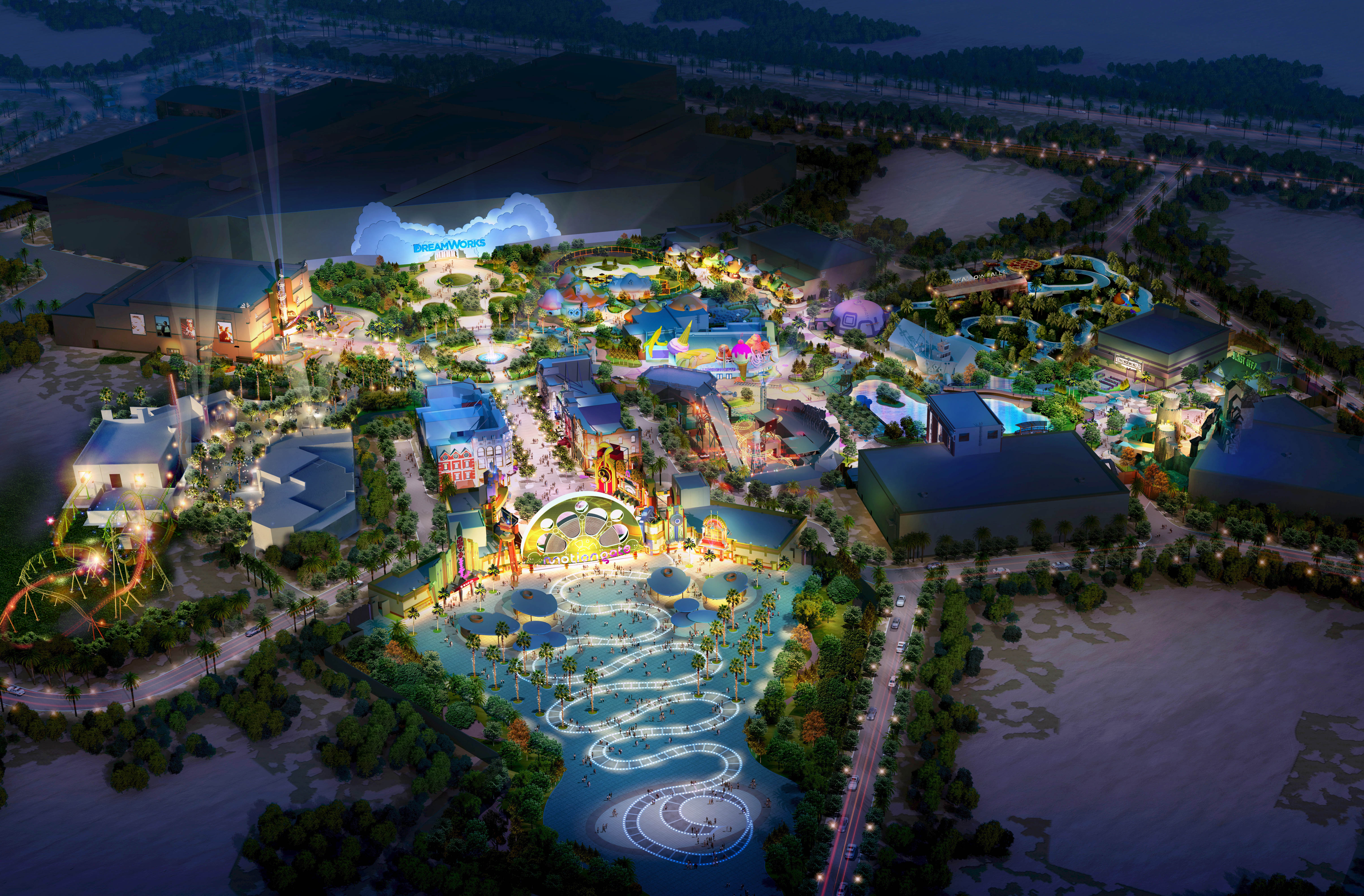 The deluxe group wins motiongate dubai contract business today motiongateaerial view new map gumiabroncs Image collections